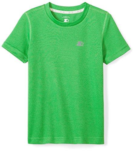 Starter Boys' Short Sleeve Tech T-Shirt, Amazon Exclusive, Team Field Green, M (8/10)