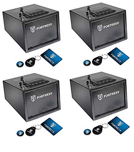 Fortress P2EAR Quick Access Pistol Safe with RFID, Black (4-(Pack))