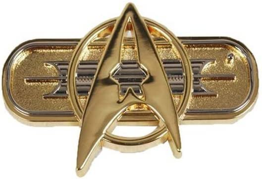 Star Trek Cosplay Voyager Command Party Badge Brooch Halloween Emblem Gold New