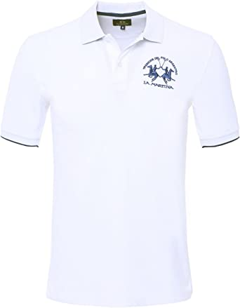 La Martina Plain Polo Shirt Blanco: Amazon.es: Ropa y accesorios