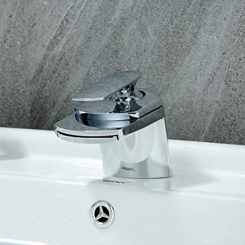 CASA Single lever Widespread Waterfall Basin Faucet Bar Sink Faucet, (Waterfall Bar Sink Faucet)