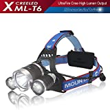 Headlight Flashlight Hiking Rechargeable XML T6 CREE Led Hiking Headlamp Flashlight Adjustable Streamlight LED Powerful Spotlight Flashlight Headlamp for Hardhats Bright Searchlight Lampara Recargable