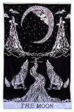 Exclusive Multi Tie Dye Crying Wolf of The Moon Tarot Tapestry wall hanging ...