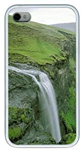 Green Cliff TPU White Case for iphone 4S/4