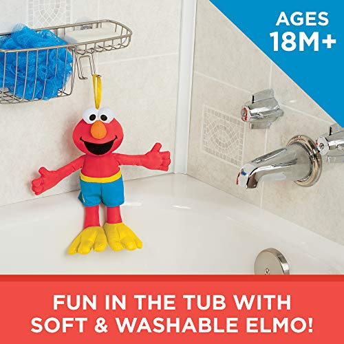 Sesame Street Bath Time Elmo: Elmo Bath Time Toy for Toddlers, Cute Swim Trunks Outfit, Soft and Washable, Toy for 18 Month Olds and Up by Sesame Street (Image #2)