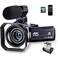 OIEXI 4K Camcorder Vlogging Camera for YouTube 48MP HD Digital Camera with 16X Digital Zoom Video Recorder with…