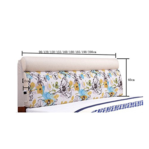 Children's bed large back pad / European fabric removable washable bedside cushion soft bag / ( Size : 1556012cm ) by Cushion (Image #1)