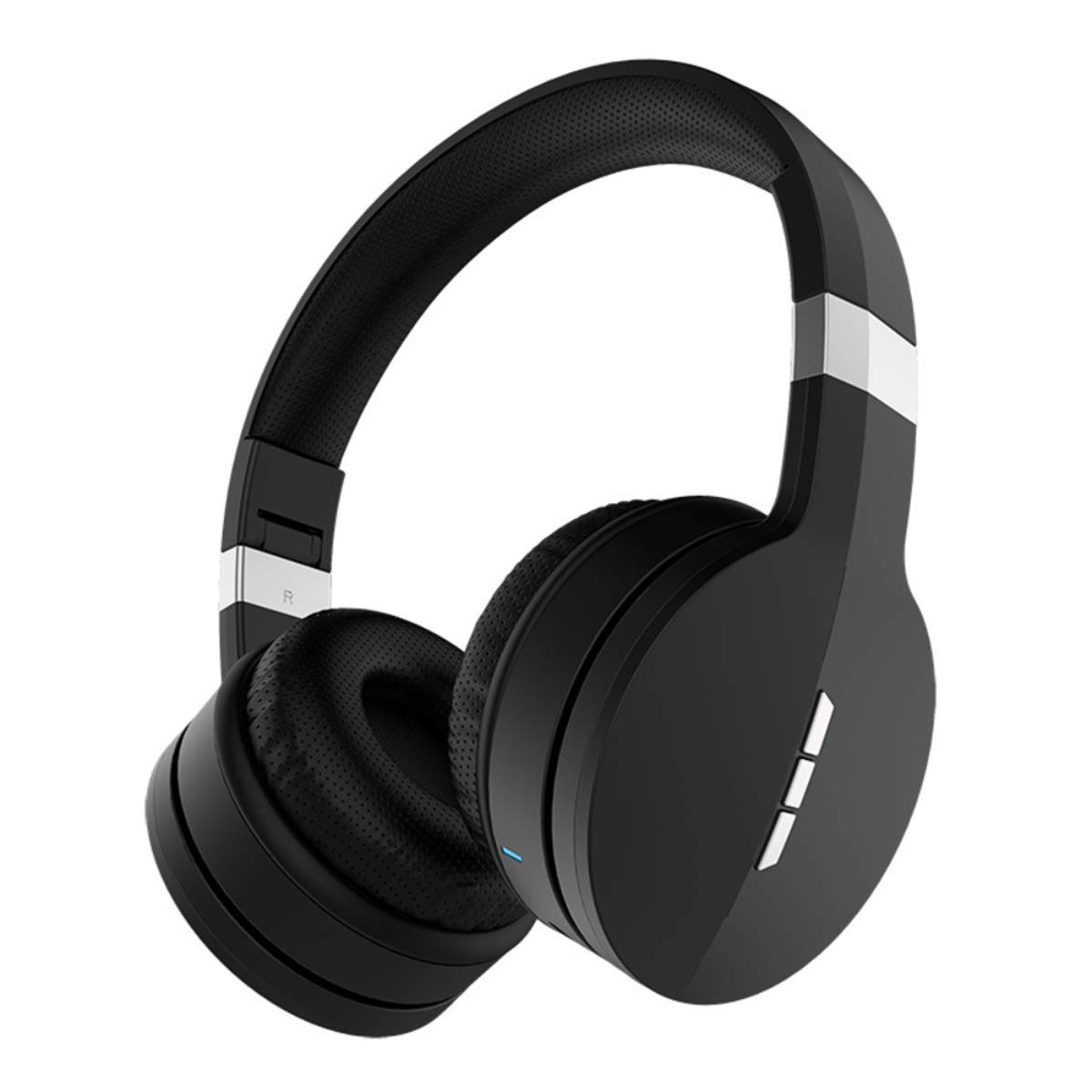 Bluetooth 5.0 Headphones,Over Ear Hi-Fi Stereo Wireless Headset, Foldable, Soft Memory-Protein Earmuffs, 45Hours Playing time,Built-in Mic and Wired Mode for PC/Cell Phones/TV (Black)
