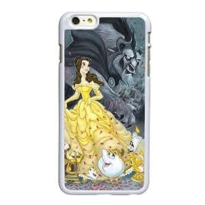 P0B76 Disney La Bella y la Bestia Y2K6FK funda iPhone 6 Plus 5.5 pufunda LGadas funda caja del teléfono celular cubren PJ1QJQ6ZB blanco