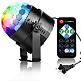 Disco Lights Sound Activated Disco Ball Party Light COIDEA 3W 7 Colors Strobe Light with Remote for Kids Toys Birthday Gifts Karaoke Club Bar Wedding Holiday Dance Night