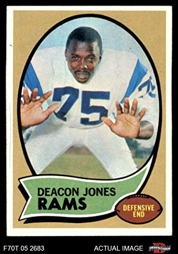 1970 Topps Football 125 Deacon Jones Los Angeles Rams Excellent