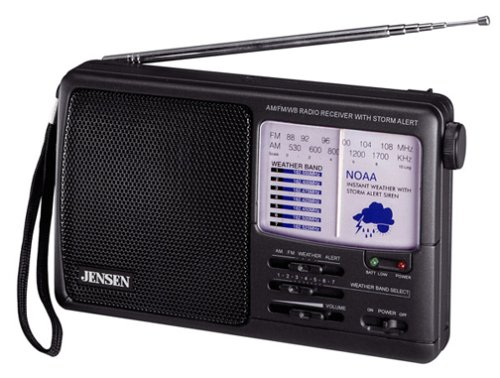 JENSEN MR-600 AM/FM Weather Band Radio with Storm Alert