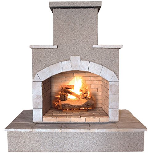 Cheap Cal Flame Fire Frp 908 55 000 Btu Gas Outdoor Fireplace