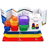 80 Day Obsession Equipment - Resistance Loop Exercise Bands with 21 Day Portion Fix Control Container kit - Exercise Guide & Recipes included