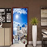 LWCX Landscape Creative Door Sticker With Personality Decoration