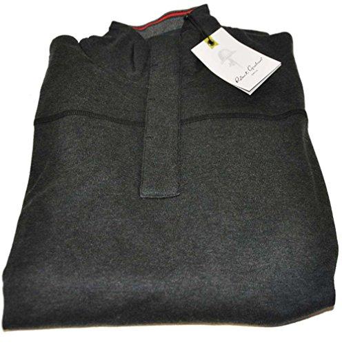 robert-graham-mens-medium-black-long-sleeve-buttoned-pullover-sweater