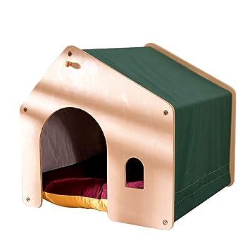 Casa para perros y gatos, sala para perros de madera ...