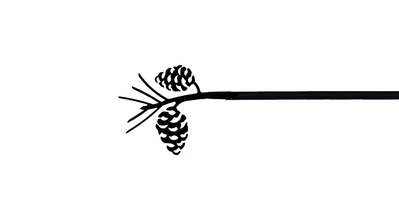 Pine Cone Curtain Rod