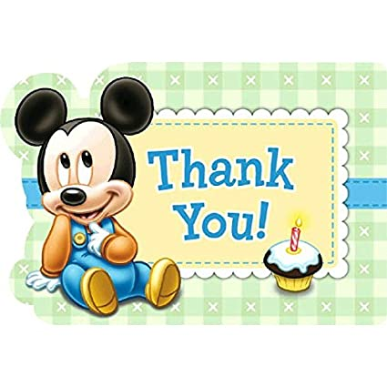 amazon com disney baby mickey mouse 1st birthday party postcard