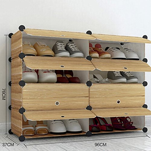 Shoe Racks Entryway Hallway Strong And Durable Resin Easy To Assemble/Removalbe Simple Tall Storage Boxes 4 Tier (Size : 2 columns 4 tier) - Kinder Kitchen Cupboard
