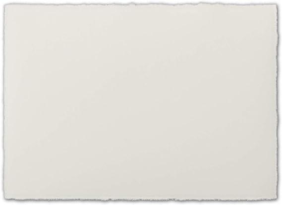 Natur-Wei/ß 260 g//m/² 25x DIN A8 Mini-Vintage Einzel-Karten Original Zerkall-B/ütten 5,5 x 8,5 cm ohne Falz Vellum Oberfl/äche echtes B/ütten-Papier