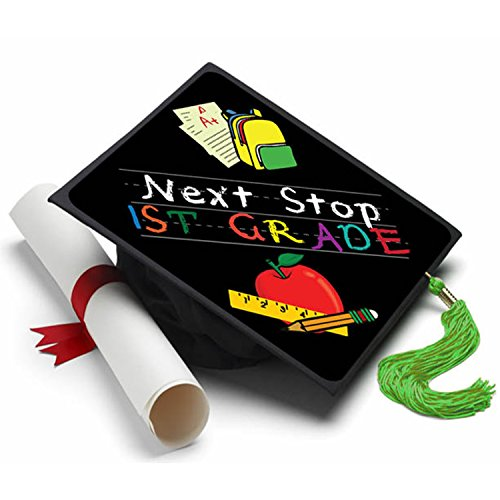 Tassel Toppers Next Stop First Grade Graduation Cap Decorations for Grad (Kindergarten Graduation Caps)