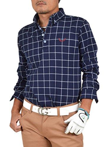 【コモンゴルフ】 COMON GOLF +3℃の蓄熱 スタイリッシュ 長袖 ポロシャツ CG-LP551