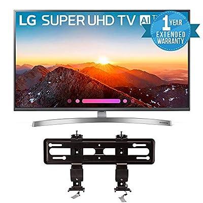"LG Electronics 49SK8000PUA 49-Inch 4K Ultra HD Smart LED TV (2018 Model) Bundle with SANUS VML5-B1 40""-50"" Premium Series Fixed Flat Panel Mount + 1 Year Extended Warranty"