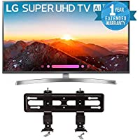 LG Electronics 49SK8000PUA 49-Inch 4K Ultra HD Smart LED TV (2018 Model) Bundle with SANUS VML5-B1 40-50 Premium Series Fixed Flat Panel Mount + 1 Year Extended Warranty