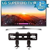 LG Electronics 49SK8000PUA 49-Inch 4K Ultra HD Smart LED TV (2018 Model) Bundle with SANUS VML5-B1 40-50 Premium Series Fixed Flat Panel Mount + 1 Year Extended Warranty
