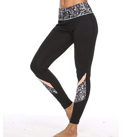 a2a66f8bd9a2b Amazon.com: ZOANO Women's Yoga Pants High Control Running Workout Leggings  Mesh Pocket Black: Clothing