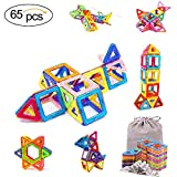 KAIDIWEI Magnetic Building Blocks,65 Pcs Kids Building Tile Set Magnetic Tiles Educational Toys for Baby Toddlers