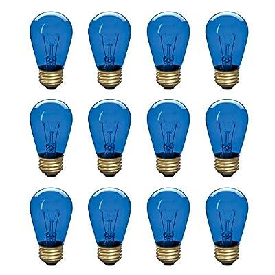 Incandescent S14 Edison Light Bulb, String Light Replacement, E26 Medium Base, 130V