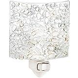 J Devlin NTL 155 Fused Clear Chips Glass Night Light Decorative Modern Home Accent Lite Bathroom Bedroom Kitchen Nursery