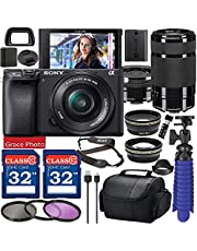 $1398 » Sony Alpha a6400 Digital Camera with 16-50mm Lens (Black ILCE-6400L/B) & 55-210mm Lens Bundle with Accessory Package Including 64GB Memory, Spider Vlog Tripod & More (21 Pieces)