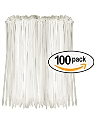 Tarvol Nylon Zip Ties (Pack of 100) 8 Inch with Self Locking ...