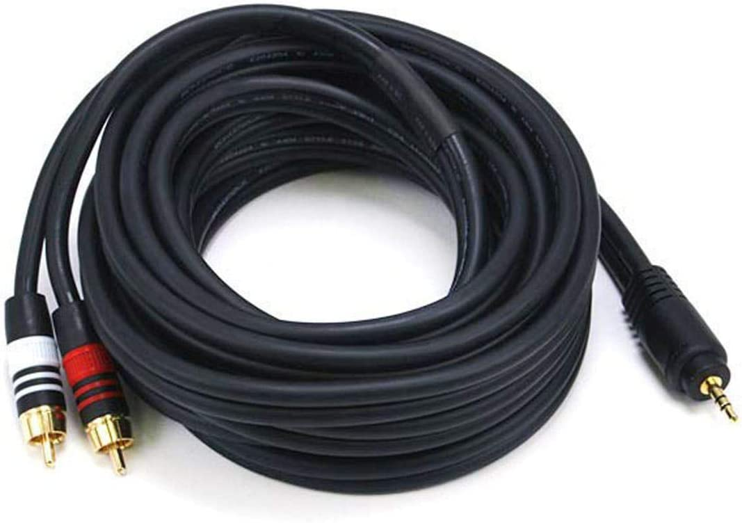 15ft Premium 3.5mm Stereo Male to 3.5mm Stereo Female 22AWG Extension Cable NEW