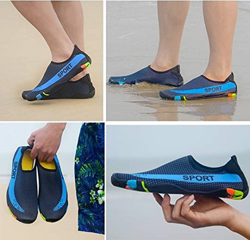 Beach Men Dry Women Aqua Pool Shoes Dark Water Socks Kids Quick Bigood Blue Swim 0qFdwF1
