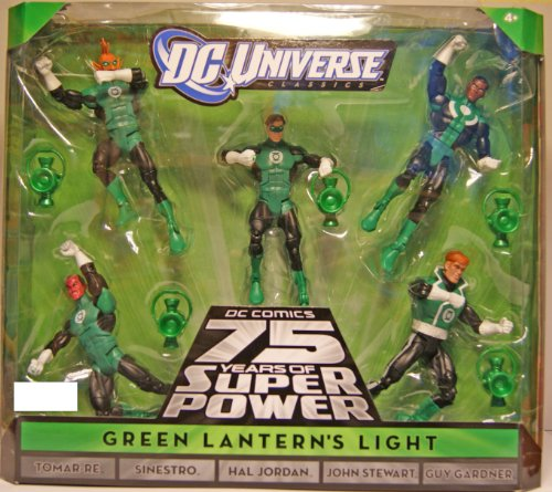 DC Universe Classics Exclusive Green Lanterns Light Action Figure 5Pack Tomar Re, Sinestro, Hal Jordan, John Stewart Guy Gardner