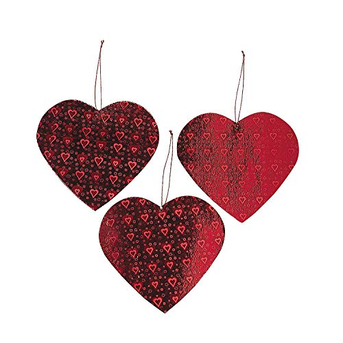 Lot of 12 Valentine Heart Cut Out Decorations Party by Fun Express