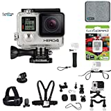 GoPro Hero4 Hero 4 12MP Full HD 4K 30fps 1080p 120fps Built-In Wi-Fi Waterproof Wearable Camera Black Adventure 32GB Sports & Outdoor Edition