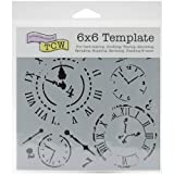 Crafters Workshop Template, 6x6-Inch, Time Travel