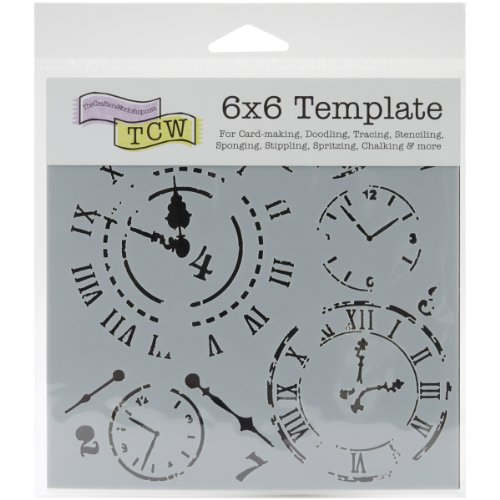 Crafters Workshop Crafter's Workshop Template, 6 by 6-Inch, Time Travel (Crafters Workshop Stencil)