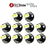 Jtech 10 x T4.2 Neo Wedge 2 SMD LED White Car Instrument Cluster Panel, A/C Dash Climate Gauge, Heater Control Lights…