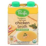 Pacific Natural Foods Free Range Chicken Broth - Low Sodium - Case of 6-8 Fl oz.