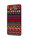 Cover Affair Aztec Printed Designer Slim Light Weight Back Cover Case for Samsung Galaxy E7 (Pink & White & Blue & Black & Other)