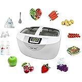 LUCKSTAR Vegetable Fruit Sterilizer - Ultrasonic Cleaner Washer 2.5L Home Use Cleaner Sterilizer for Vegetables / Fruits / Glasses / Watch / Tableware and More
