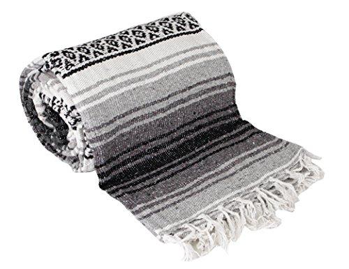 Canyon Creek Authentic Mexican Yoga Falsa Blanket (Grey)