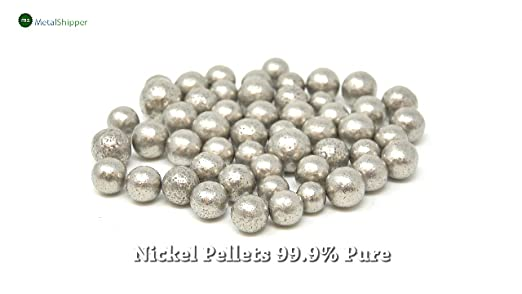 Nickel Anode Pellets 1 Pound | 99.9+/% Pure Raw Nickel Metal for Make Alloys and Nickel Plated