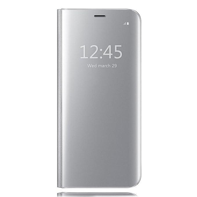 6 opinioni per Galaxy S8+ Clear View Standing Cover, HiChili Lusso Elegante Glitter Smart Flip